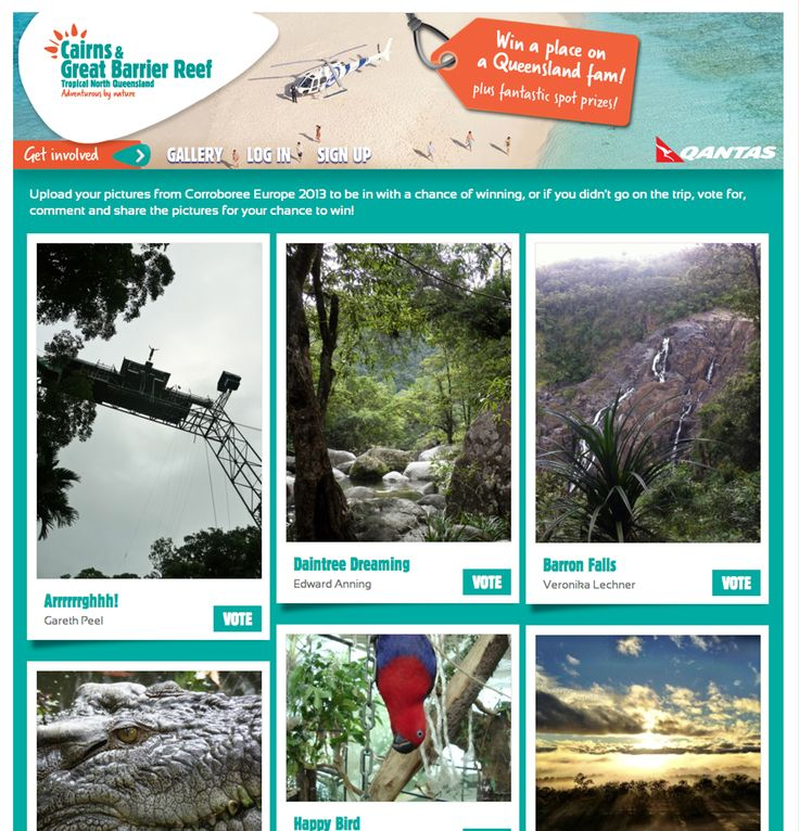 Visitors to the TTG microsite could upload their images of Cairns and the Great Barrier Reef to be in with a chance of winning a trip to Queensland.