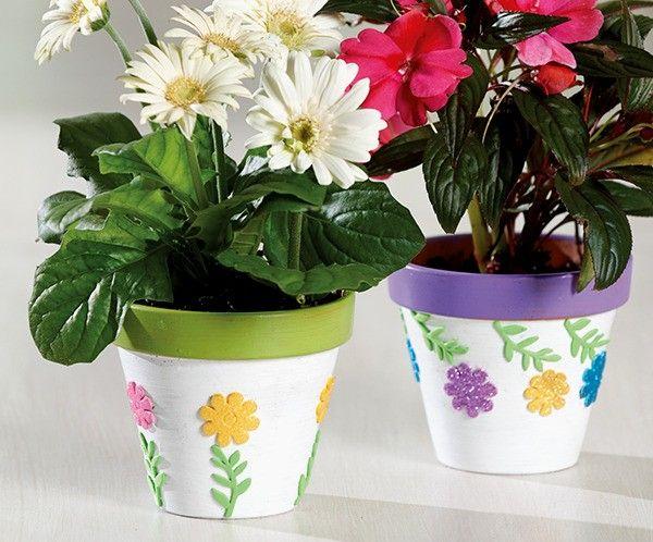 DIY decorative flower pots