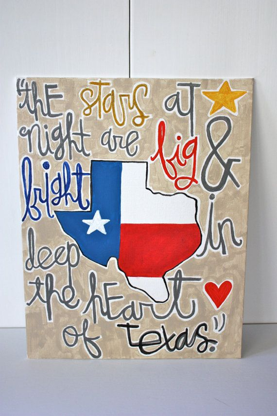 Deep in the Heart of Texas Quote Canvas Art by outofthedustxx, $25.00