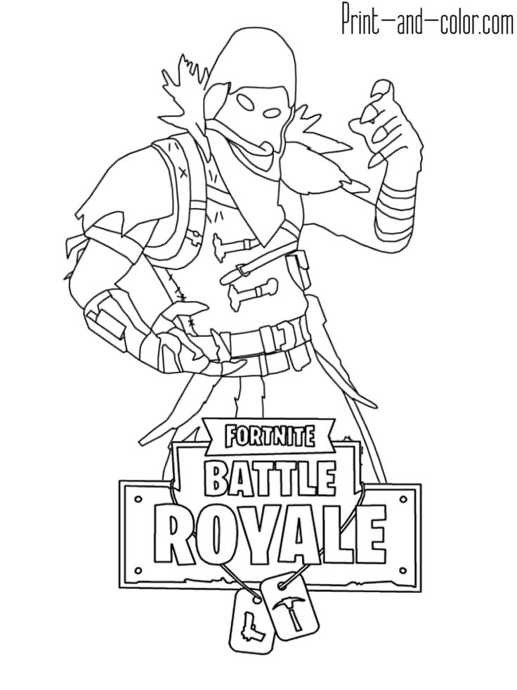 Fortnite Battle Royale Coloring Page Raven Fortnite V