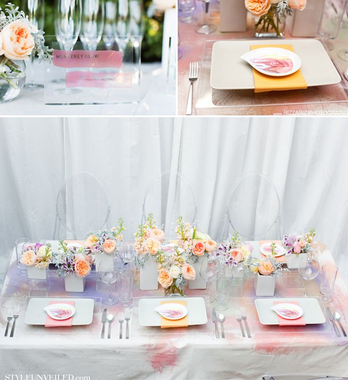 watercolourWatercolor Wedding, Watercolors Inspiration, Watercolors Wedding, D Inspiration Thèm, Wedding Blog, Wedding Inspiration Boards, Celebrateparti Ideas, Tables Decor, Watercolors Tablecloth
