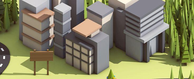 Little buildings.