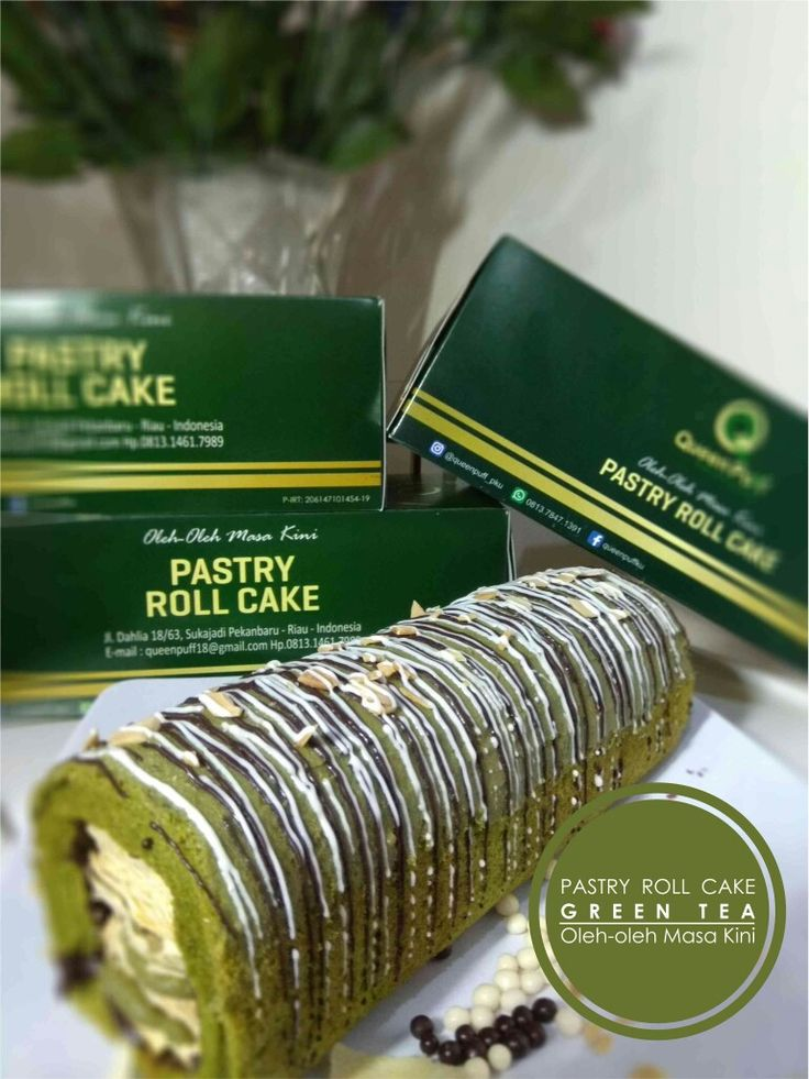 Pastry Roll Cake Greentea