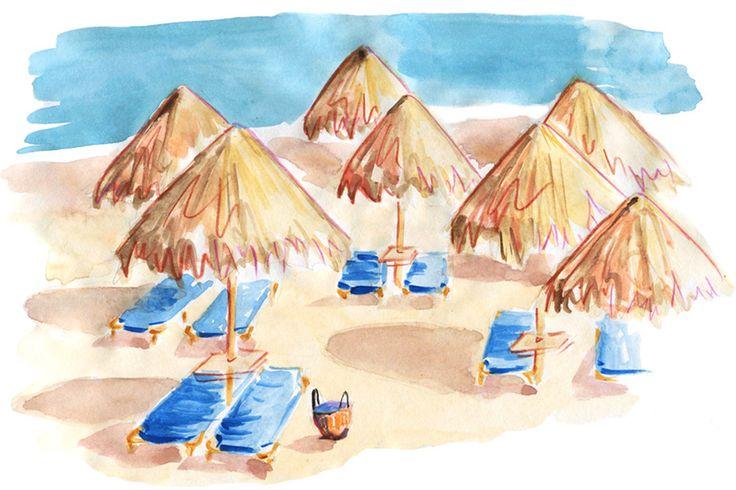 Mykonos: Travel Guide, Agia Anna beach Kalafati, Greece #Mykonos #Greece #GreekIsland #travelillustration #travel #Cyclades #illustration #IrinaIllustration #IrinaSibileva #beach #travel #illustration #IrinaIllustration #IrinaSibileva #travelillustrator #lifewelltravelled #CondéNastTraveller #travelblog #travelblogger #travelcolorfully #dametraveler #passionpassport #tasteintravel #traveldeeper #lifestyleguide #summervacation