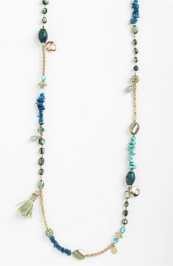 Sara Bella Extra Long Bead Necklace   Nordstrom