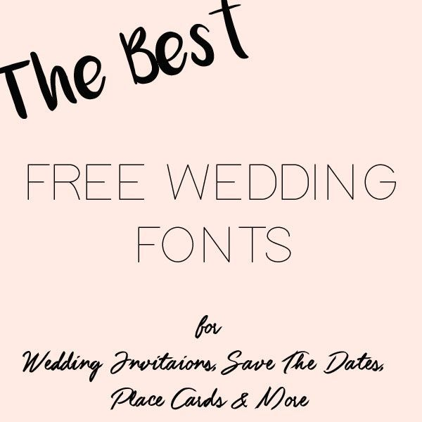 Fonts For Wedding Invites: Free Downloads - Wedding
