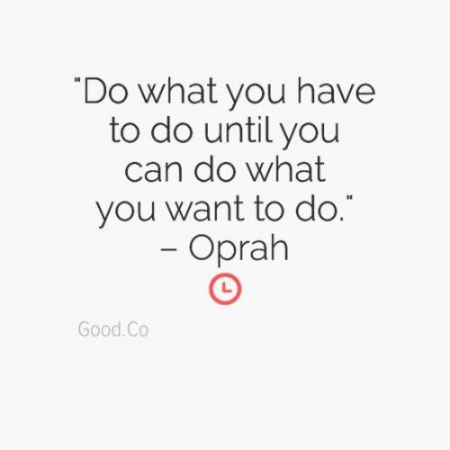 Career tip quotes about life, oprah