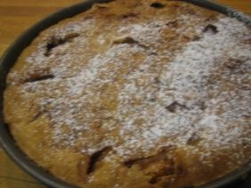 From Bonnie Stern website, Camilla Plum's Very Good Apple Cake- sounds lovely on a gray day!