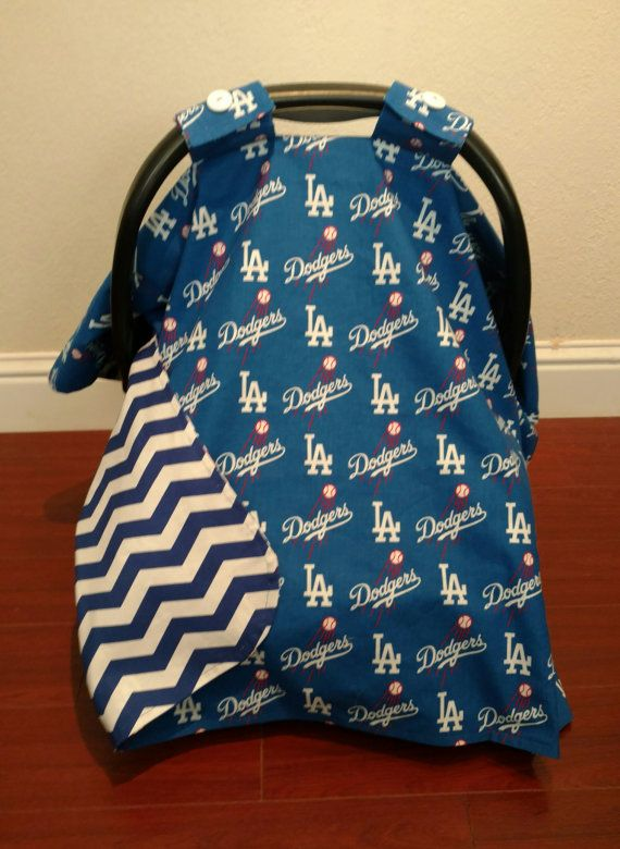 LA Dodgers Baseball Car Seat Canopy by RodellsBoutique on Etsy