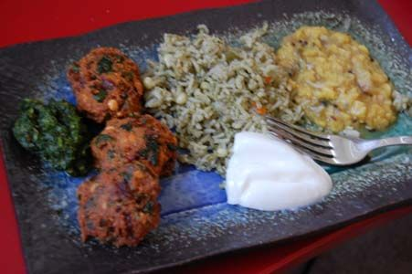 Indian Rice Recipes for Dinner | Gluten Free Indian Recipes: Mint Vegetable Veg Pulav Rice Pilaf Recipe ...