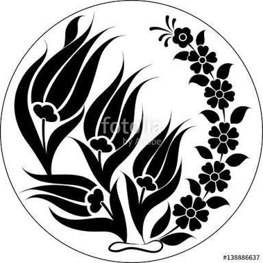 çini motifleri siyah beyaz ile ilgili görsel sonucu