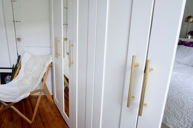 While I love the functionality of the Ikea Brimnes Wardrobes (and also bed) I can't say that I love the handles that they come with. Trut...