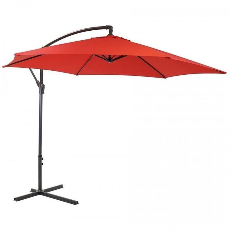 Garden Parasol Umbrella Outdoor Patio Hanging Sun Shade Canopy Large 3 M Red #GardenParasolUmbrella #GardenUmbrella