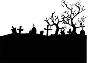 halloween graveyard silhouettes - Google Search                                                                                                                                                                                 More