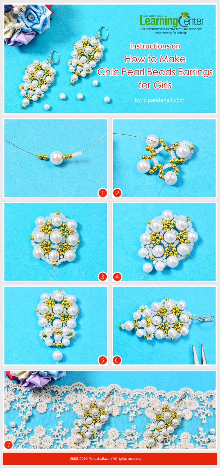 Instructions on How to Make Chic Pearl Beads Earrings for Girls from LC.Pandahall.com   #pandahall