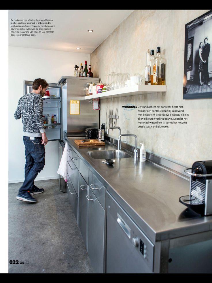 Vtwonen 2014-05 Achterwand keuken, beton ciré