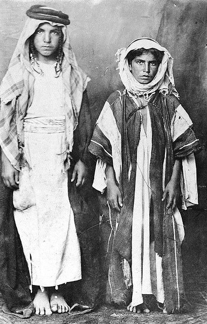 Harutyun and Krikor Tashjian, native boys from Malatia, western Armenia, recovered from an Arab tribe.