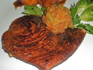 Chef JD's Classic Cuisine: Cajun Blackened Swordfish Steak with Papaya Chutney