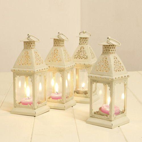 4 X 18CM MOROCCAN CREAM LANTERNS TEA LIGHT WEDDING PARTIES CANDLE HOLDER HANGING | eBay
