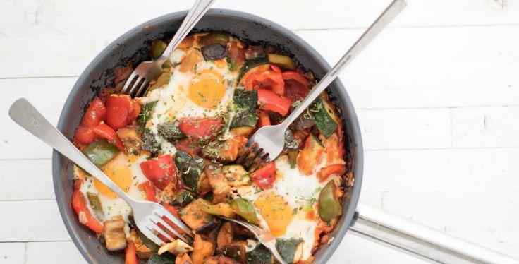 Deze heerlijke Italiaanse groenteschotel is een recept uit het I Love Health boek en één van mijn favo diner recepten. Want: snel, voedzaam en zo lekker!
