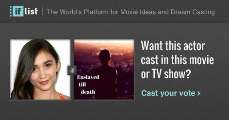 Rowan Blanchard as Young Nicole in Enslaved till death? Support this movie proposal or make your own on The IF List.