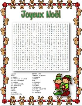 Students will have fun while reviewing French Christmas vocabulary with this word search. Colour, Black-line and Answers included This item is part of my French Christmas Activity Pack, a collection of all my no-prep Christmas activities found at Class Hacked, my TPT store, for