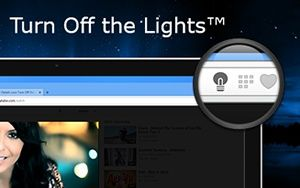 Turn Off the Lights Chrome extension
