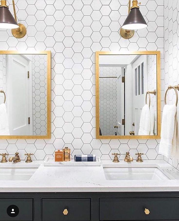 Best 25+ Hexagon Tile Bathroom Ideas On Pinterest