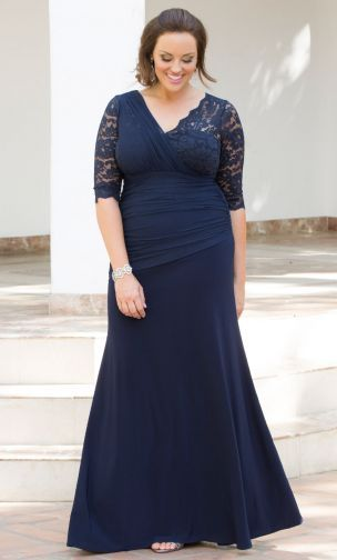 #KIYONNAPLUSSIZEFASHIONS ,Soiree Evening Gown in a beautiful blue will make you the belle of the ball at any formal affair. Designed with a faux illusion mesh one shoulder gathering and asymmetrical drop waist, this unique gown will captivate the room. #plussize #PLUSSIZEFASHION #kiyonna #KIYONNAFASHIONS http://www.planetgoldilocks.com/plussize_clothing