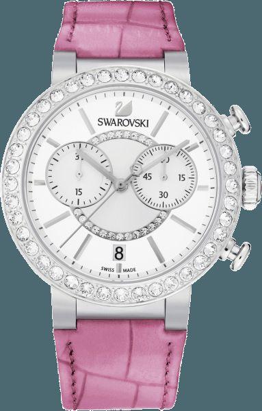 Swarovski Watches citra sphere chrono pink qtz watch