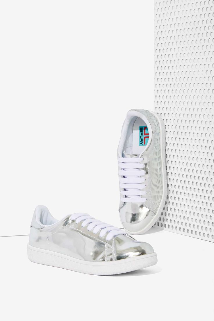Jeffrey Campbell Player Metallic Sneaker