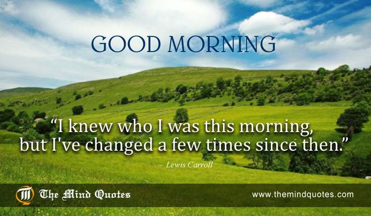 I knew who I was this #morning, but I've changed a few times since then.Lewis #Carroll Quotes on Change and Morning. Read, Think and Share