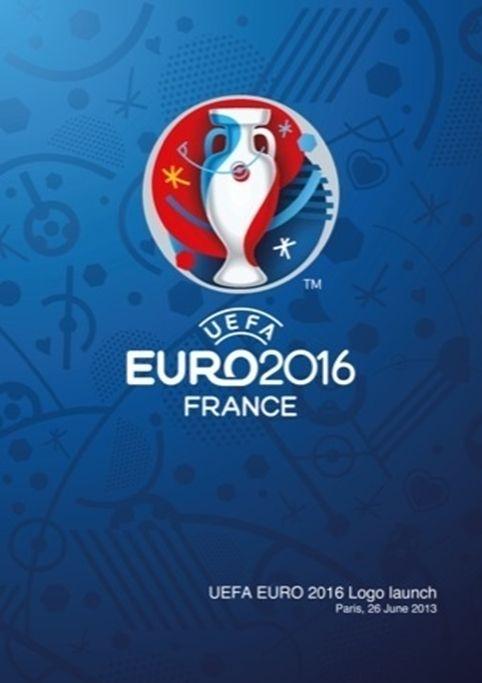 The Euro 2016 identity with graphic pattern in background