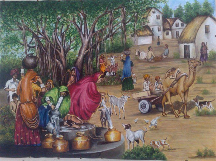 Village Life Paintings Easy 189 best images about ...