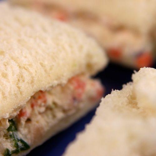 Veggie Cream Cheese Finger Sandwiches | Recipe | Cream ...