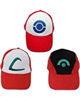 XCOSER Adult Ash Ketchum Hat Cap Cosplay Accessory.  For more products visit www.ddavis8587.com