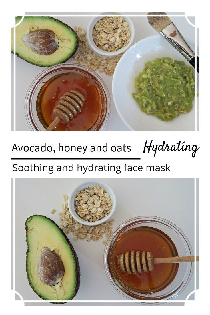Avocado, honey and oats - soothing, anti-inflammatory and hydrating face mask