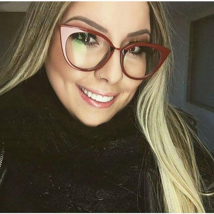 Oculos Armacao De Grau Vermelho Orchidea Blogueira Em 2020 Com