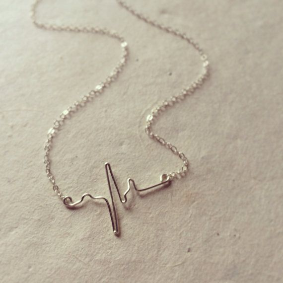 Hey, I found this really awesome Etsy listing at https://www.etsy.com/listing/189107408/sale-heart-beat-necklace-ekg