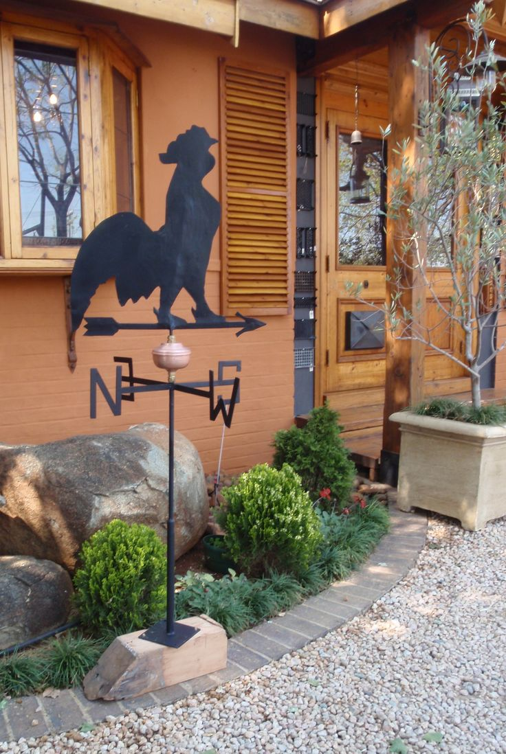 Rooster weather vanes and shutters
