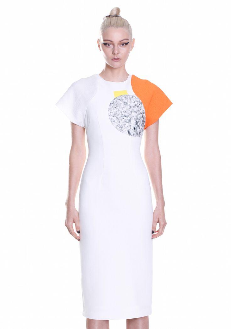 ORANGE GLITTER SLEEVE DRESS   #UNTITLED #BYJOHNNY #SUMMER2015 #AUSTRALIANFASHION