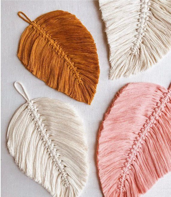 DIY Macrame Feathers Simple for Beginners Wall Hanging Decor Downloadable PDF Pattern