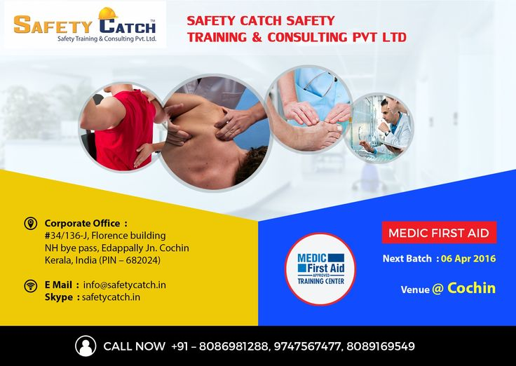 Join today & upgrade your #safety career with #MedicFirstAid #training from Safety Catch: http://www.safetycatch.in/html/courses-medic.html