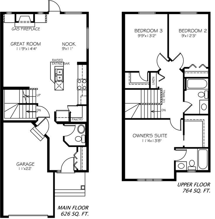 Emma II Floor plan from Pacesetter Homes #yeg