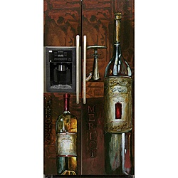 @Overstock - A magnetic refrigerator cover turns your appliance into a work of art in seconds. This reusable cover features rich Old World wine bottles and can be easily trimmed to fit your refrigerator.http://www.overstock.com/Home-Garden/Appliance-Art-Old-World-Wine-Refrigerator-Cover-Side-Side/6193525/product.html?CID=214117 $74.99
