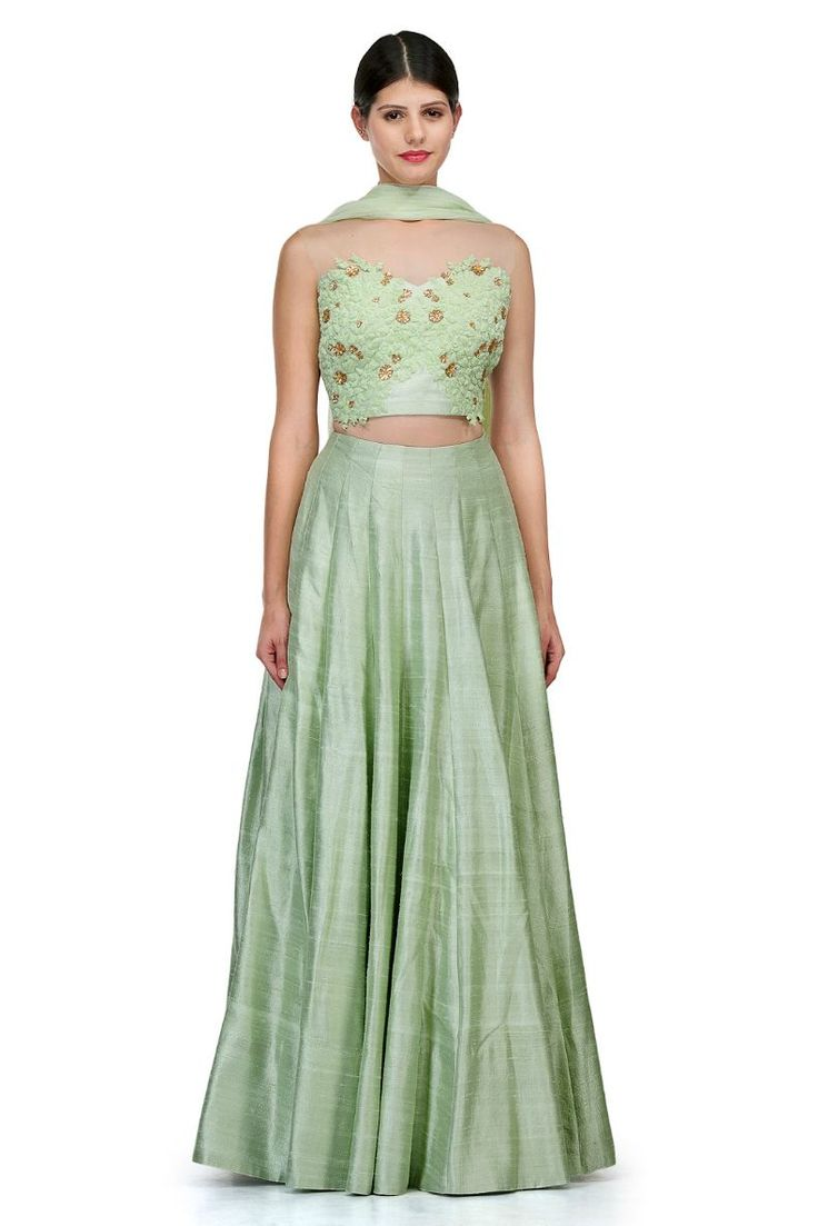 Sea Green Colour Raw Silk Fabric Party Wear Lehenga Choli Comes with matching blouse. This Lehenga Choli Is crafted with This Lehenga Choli Comes with Unstitched Blouse Which Can Be Stitched Up to siz...