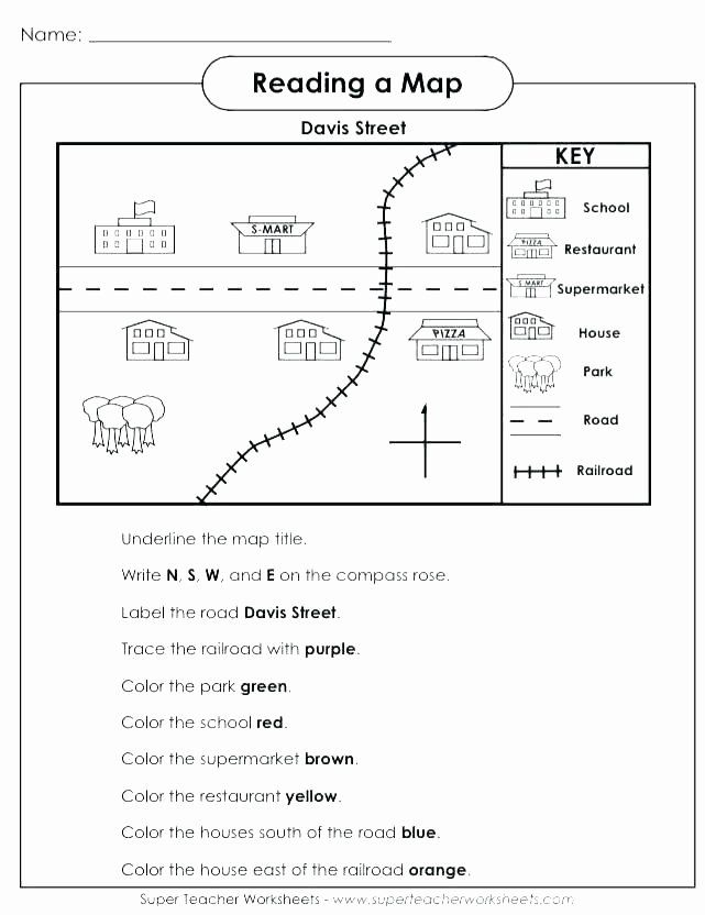 Map Scale Worksheet 3rd Grade Map Worksheets for Kids in ...