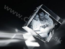 Darček Gravírovanie skla - Kocka úkos