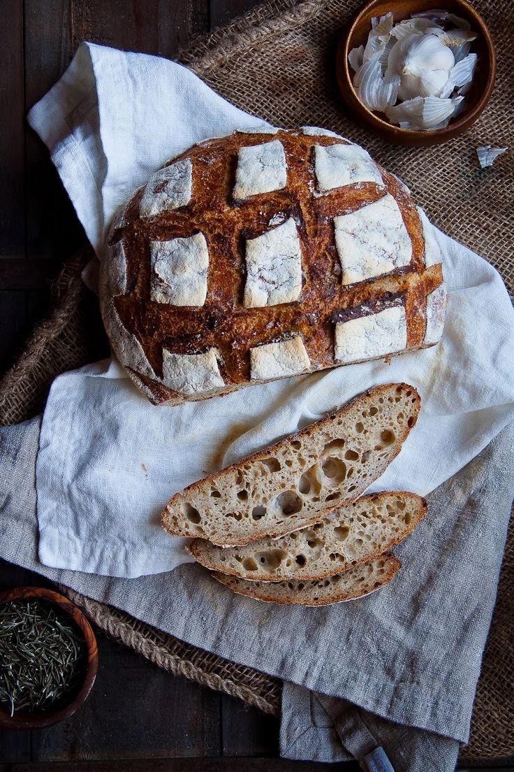 Hint of Vanilla: Italian Country Loaf with Rosemary, Garlic, and Lemon