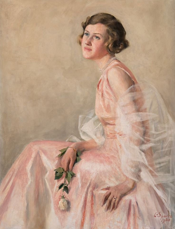 Louis Sparre - Girl in a pink dress (1930)